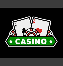 casino poker template icon gambling chips vector image vector image
