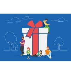 Gifts and presents concept vector image