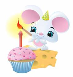 mouseandcupcake vector image