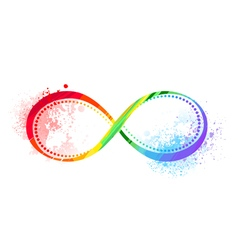Rainbow symbol of infinity vector