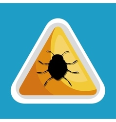 security data alert virus icon design vector image vector image