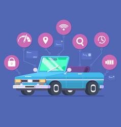 driverless car technology features autonomous vector image