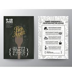 Food Festival Poster Brochure Flyer design Layout vector image
