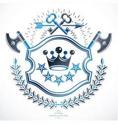 heraldic coat of arms decorative emblem isolated vector image vector image