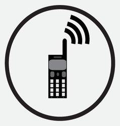 Mobile phone icon monochrome black white vector image