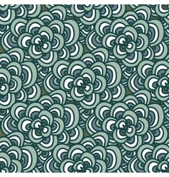 Seamless doodle Simple floral pattern in winter vector image