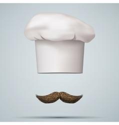 Symbol of chef cap toque and mustache vector image vector image