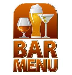 Bar menu sign vector