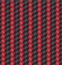 carbon fiber black red vector image