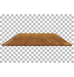 empty wooden shelf table isolated background vector image
