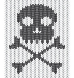 knitted skull background vector image vector image