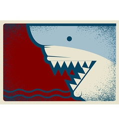 Shark poster background for design vector image vector image