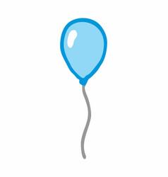 a blue balloon vector image