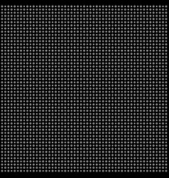 abstract white dots on black background vector image