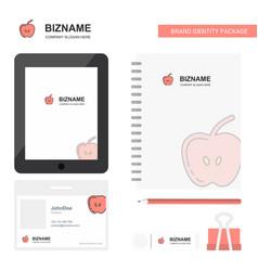 apple business logo tab app diary pvc employee vector image