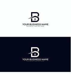 B letter real estate modern logo design vector