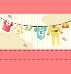 Baby clothings vector