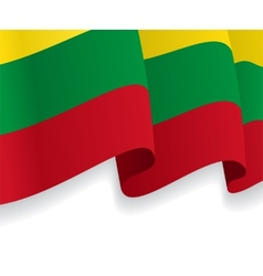Background with waving lithuanian flag vector
