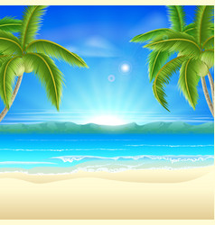 beach summer holiday background vector image