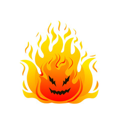 big fire cheerful monster high hot flames vector image
