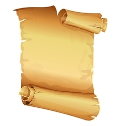 Big golden ribbon scroll of parchment vector image