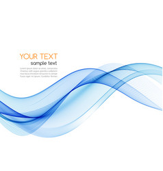 Blue abstract wave design element smoke vector