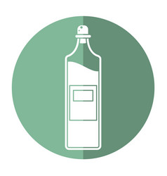 Bottle juice fresh healhty icon vector