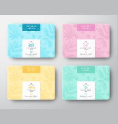 Cinnamon clove mint and vanilla soap cardboard vector