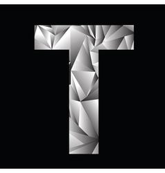 Crystal letter T vector