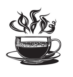 cup with hot coffee vector image