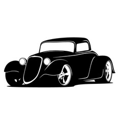 custom american hot rod car vector image