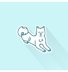 Cute cartoon dog drawing in doodle style Great vector image