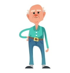 Cute old man vector image
