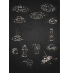 Design Elements For The Menu On The Chalkboard vector image