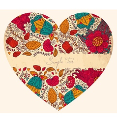 Detailed love heart vector