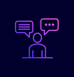 discuss social network icon vector image