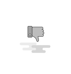 dislike web icon flat line filled gray icon vector image