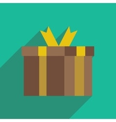 Flat icon with long shadow gift box vector