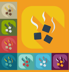 Flat modern design with shadow icons coal vector