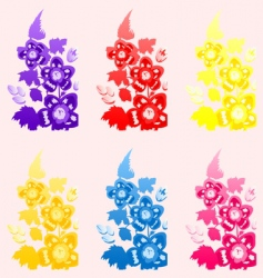 Flower a set vector