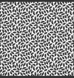 foliage plant seamless pattern background black vector image