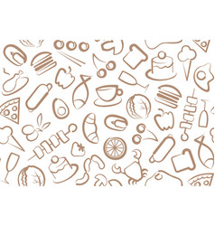 Food seamless background vector