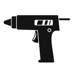 glue pistol icon simple style vector image