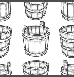 Graphic barrels of beer vector