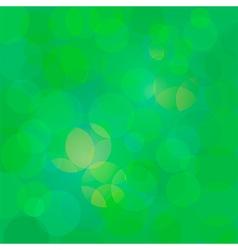Green abstract circle lights bokeh background vector image