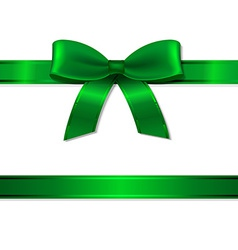 Green Ribbon And Bow vector