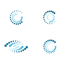halftone circle dots vector image