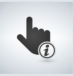 hand mouse hand cursor pointer with information vector image
