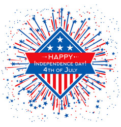 Happy independence day banner template 4th vector