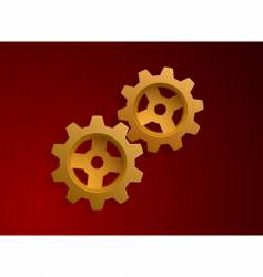 illustration of golden gears vector image
